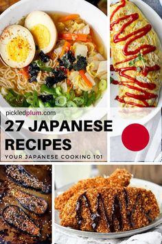 27 Japanese recipes YOU can make at home - Easy healthy Japanese food Japanese comfort food healthy Asian dinner recipes DIY Japanese food ramen recipes Asian Dinner Recipes, Healthy Dinner Recipes, Mexican Food Recipes, Cooking Recipes, Ramen Recipes, Plum Recipes, Healthy Food, Healthy Asian Recipes, Veggetti Recipes