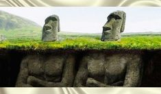 We all know that the easter island heads have bodies – that's not a mystery at all. But how did the easter island population build hundreds of statues? Statue Art, Head Statue, National Geographic, Easter Island Statues, Historical Monuments, Ancient Aliens, Ancient Civilizations, Tahiti, Archaeology