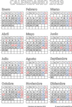 Calendario de Argentina 2019 gratis descargar Hijri Calendar, Layout Design, Diy And Crafts, Filofax, Bullet Journal, Printables, Free, How To Plan, Scrap Books