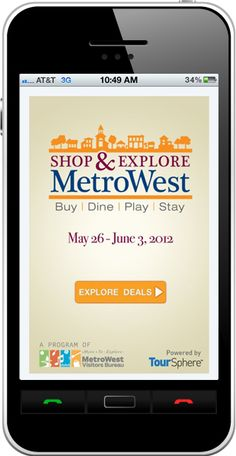 Use the MetroWest app to find special deals and fun things to do in the MetroWest area of Boston!   http://metrowest.toursphere.com
