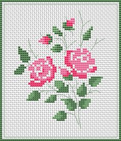 Roses free cross stitch pattern