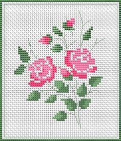 Roses free cross stitch pattern