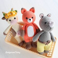 FREE patterns! The Cuddle Me Amigurumi Animals delight children of all ages The patterns of Cuddle Me series are available on Amigurumi Today (link in the bio)