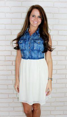 Amour Boutique - Barefoot Blue Jean Dress, $44.00 (http://www.shopamourboutique.com/barefoot-blue-jean-dress/)