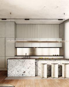 Apartment 33 on Behance – Architecture Kitchen Furniture, Kitchen Interior, Home Interior Design, Interior Architecture, Interior Decorating, Family Furniture, Küchen Design, House Design, Loft