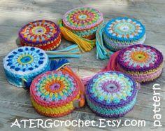Crochet patrones anillo bordado por ATERGcrochet por ATERGcrochet