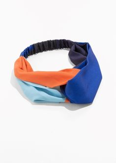 & Other Stories Multi Colour Hairband in Orange / Blue