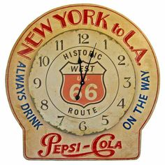 Antique Pepsi-Cola clock. I like this just because it's Pepsi and NOT Coca-Cola. Pepsi stuff is much harder to find. Besides, I'm a Pepsi girl myself.