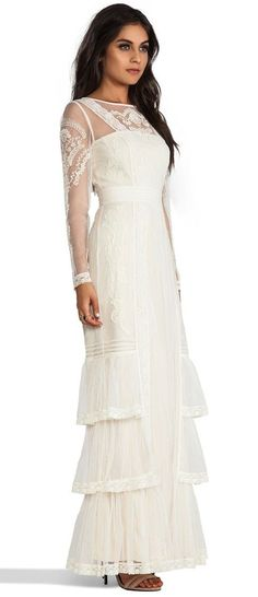 Alice by Temperley Long Sleeve Botanical Maxi.   I love this for a beach wedding.