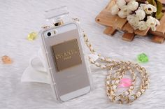 iphone 5/5s and 4/4s clear perfume bottle case by flowerbn on Etsy, $25.00