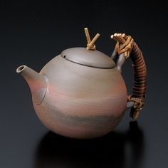 Premium - Tokoname Pottery : SEIJI ITO - Japanese Kyusu tea pot 450cc Ceramic fine mesh net from Japan