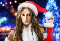 Fotomontaje Santa Claus Mujer.