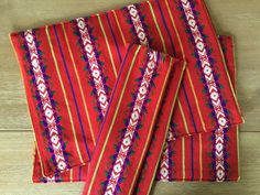 Rustic Christmas placemats napkins or table runner Bohemian decor Mexico Fiesta Mexican Christmas Posada Rustic Christmas bohochic by MesaChic #etsy tribal napkins rustic linens aztec tablecloth mexican tablecloth Boho chic decor Bohemian table tribal christmas rustic christmas christmas placemats reversible placemats christmas napkins gifts under 20 boho hostess gift