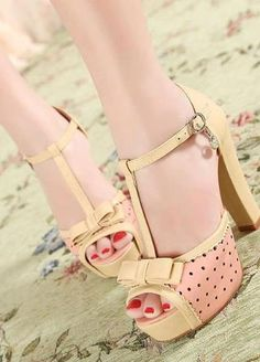 polka dots, ribbon, woman shoes, new fashion, sandal, pink, bow, heels, green flowers