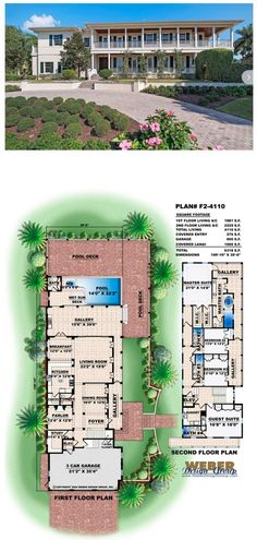 Two-stories with wrap around porches on both levels, this house plan evokes a breezy West Indies plantation vibe. More beach house plans: https://www.weberdesigngroup.com/home-plans/style/beach-house-plans/