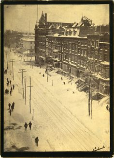 East 14th Street looking towards Fifth Avenue, March 13, 1888, after the blizzard.  William E. Light Collection of New York City Photographs, PR 037.  New-York Historical Society, image #84001d.