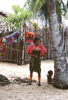 A native woman from the San Blas Islands of Panama.