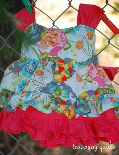 """http://www.etsy.com/listing/94545833/zoeruffle-dress-pattern-and-top-pattern    """"Zoe"""" top in LilyBelle by traceyjay"""