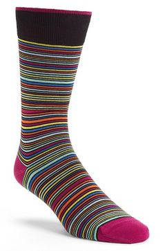 Bugatchi Stripe Socks available at #Nordstrom