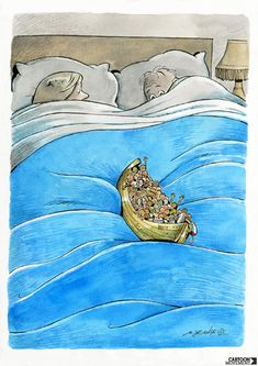 Sleeping in. Today's cartoon by Marco De Angelis: http://www.cartoonmovement.com/cartoon/27630