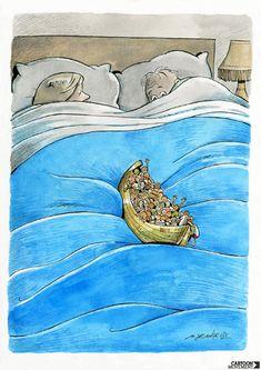 Sleeping in. Today's cartoon by Marco De Angelis: http://www.cartoonmovement.com/cartoon/27630