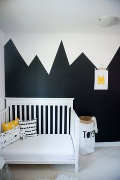 Dex's Black & White and Yellow All Over Bedroom — Professional Project