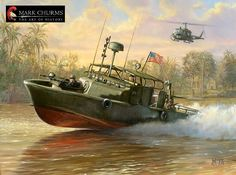 How to commission your own original oil paintings from Naval History Artist Mark Churms Military Art, Military History, Military Quotes, Vietnam Veterans, Vietnam War, Brown Water Navy, Merchant Marine, Naval History, United States Navy