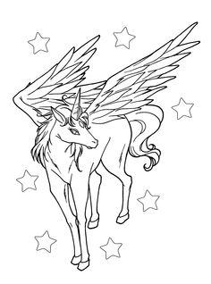 Pegasus Is Staring With Beautiful Eyes