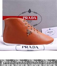 Prada high-tops Sneaker Real Leather Brown,Prada men #shoes,prada #boots 2016,prada men shoes 2017,prada shoes style,prada sneaker Brown,Prada high-tops Sneaker