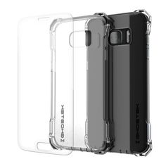 Galaxy S7 EDGE Case, Ghostek® Covert Series for Samsung Galaxy S7 EDGE Premium Impact Protective Armor Case Cover | Clear TPU | Lifetime Warranty Exchange | Explosion-Proof Screen Protector | Ultra Fit (Clear)  PRECISELY CUT: With the case cut so precisely, the Galaxy S7 EDGE headphone and microphone jacks will be just as accessible. You'll only have to carry what you need, making international travels a breeze. 5 COLORS TO CHOOSE FROM: Clear, Space Gray, Rose Pink, Peach & Gold. Perfect for…