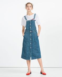 "Image 1 of ""I AM DENIM"" COLLECTION DUNGAREES from Zara"