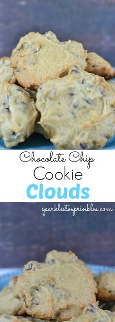 It's only fair to share...Chocolate chip cookie clouds are all the new craze! For good reason too! These light and fluffy chocolate chip cookies take an interesting spin on the traditional recipe so that you end up with these fluffy delicious cookies Chocolate chip cookie clouds are all the new craze! For good reason too! These light and fluffy chocolate chip cookies take an interesting spin on the traditional recipe so that you end up with thesefluffy delicious cookies. You can see why...