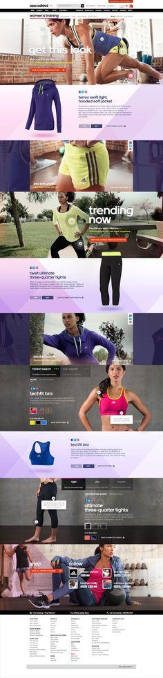 adidas Women's Training Experience by Ryan Mendes, via Behance #sport #adidas #training #womens