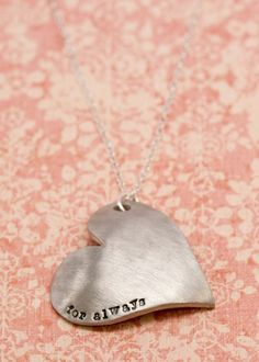 For always stamped necklace. I love this! We ALWAYS say this to each other.. even have the kids saying it too!