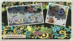 I nostri tavoli in pietra lavica smaltata e decorata a mano; lavapreziosa.com