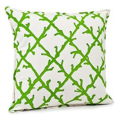 I pinned this Coral Square Pillow in Green from the ecoaccents event at Joss and Main!