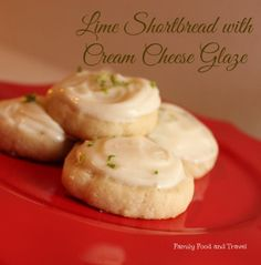 Lime Shortbread Cookies with Cream Cheese Glaze - Family Food And Travel