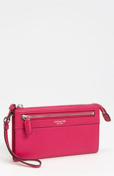 COACH 'Legacy Zippy' Leather Wallet available at #Nordstrom