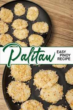 How To Make Palitaw ( Easy Steps and Procedure ) Sweet Rice Cake with Coconut. Palitaw made of Glutinous Rice Flour and Water coated with Shredded coconut, Toasted Sesame seed and Sugar, a Classic Filipino kakanin and snacks. #Palitaw #howtocookpalitaw #Sweetricecake Filipino Food, Filipino Recipes, Vegan Gluten Free, Vegan Vegetarian, Glutinous Rice Flour, Easy To Make Desserts, Desserts Menu, Toasted Sesame Seeds, Rice Cakes