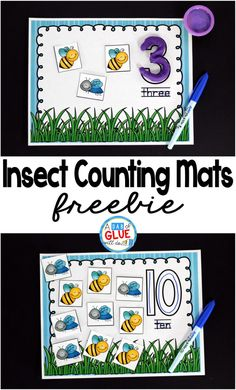 Insect Counting Mats - A Dab of Glue Will Do