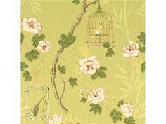 G P & J Baker SONGBIRD GREEN/ROSE BW45004.3 - Lee Jofa New - New York, NY, BW45004.3,Lee Jofa,Pink, Green,Green, Pink,Up The Bolt,Floral Medium,United Kingdom,Floral Medium,Yes,G P & J Baker,No,SONGBIRD GREEN/ROSE