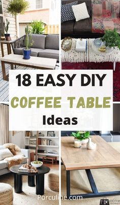 Simple Coffee Table, Ideas For Coffee Tables, End Tables, Furniture Makeover, Painted Furniture, Diy Home Decor, Easy Diy, Sweet Home, Diy Projects