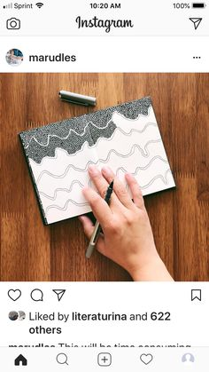 Interesting wave like Doodles Zentangles, Ink Doodles, Zentangle Drawings, Art Drawings, Doodle Inspiration, Art Journal Inspiration, Doodle Patterns, Zentangle Patterns, Doodle Art Drawing