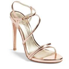 Stuart Weitzman Follie Sandal (Women) (1.440 BRL) ❤ liked on Polyvore featuring shoes, sandals, stuart weitzman, stuart weitzman shoes and stuart weitzman sandals