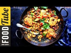 Tray-Baked Chicken with Spiced Indian Potatoes | Jamie Oliver - YouTube
