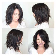 Messy Bob Hairstyles, Wavy Haircuts, Pretty Hairstyles, Medium Hair Cuts, Medium Hair Styles, Curly Hair Styles, Layered Haircuts Shoulder Length, Textured Haircut, Tips Belleza