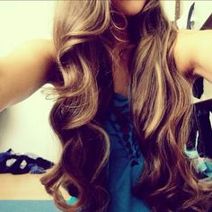 long and curly hair
