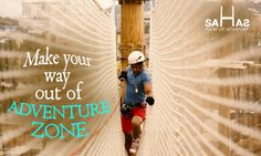Explore & experience Net Course sport with 42 forms of adventurous activities at Asia's Largest Adventure Land, Sahas.