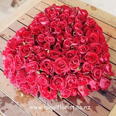 99 red rose heart