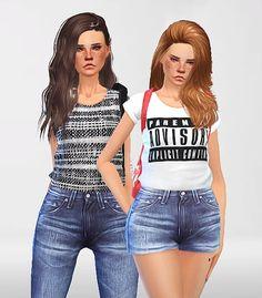 Pure Sims: Denim set • Sims 4 Downloads